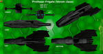 Prothean Frigate Verom class (Concept) by Euderion