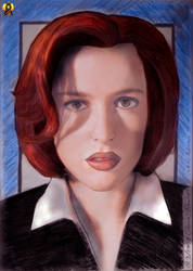 Gillian Anderson drawing by Euderion