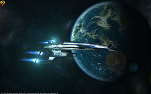 Mass Effect Normandy Wallpaper by Euderion
