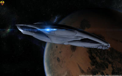 Salarian Frigate Concept by Euderion