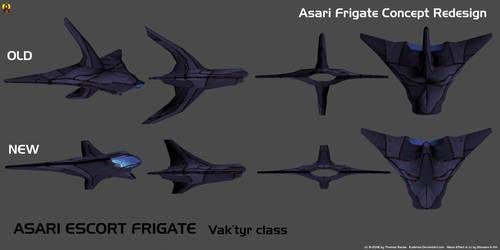 Asari Escort Frigate Redesign by Euderion