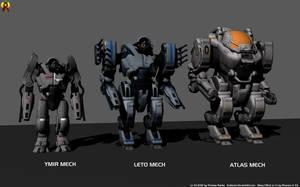 Mass Effect Heavy Mechs by Euderion