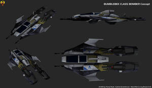Alliance Bumblebee class Bomber Concept by Euderion