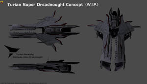 Turian Super Dreadnought Concept by Euderion