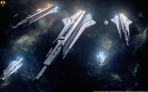 Archers of Space - Artillery Cruisers by Euderion