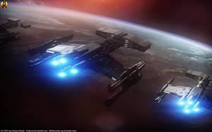 Starcraft Terran Battlecruisers by Euderion