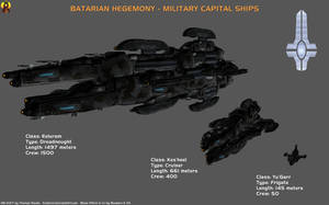 Batarian Capital Ships by Euderion