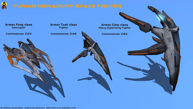Turian Fighter types by Euderion