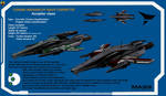 Turian Accipiter class Corvette by Euderion