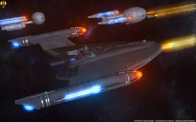 UES Eberswalde in the Romulan War by Euderion