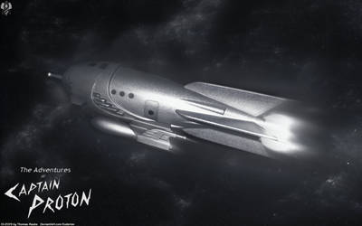 Protons Rocket Ship by Euderion