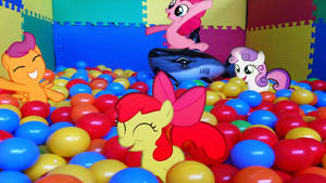 CMC With Pinkie Pie In The Ball Pit by Mr-Kennedy92