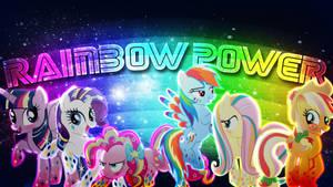 Mane 6 Rainbow Power by Mr-Kennedy92