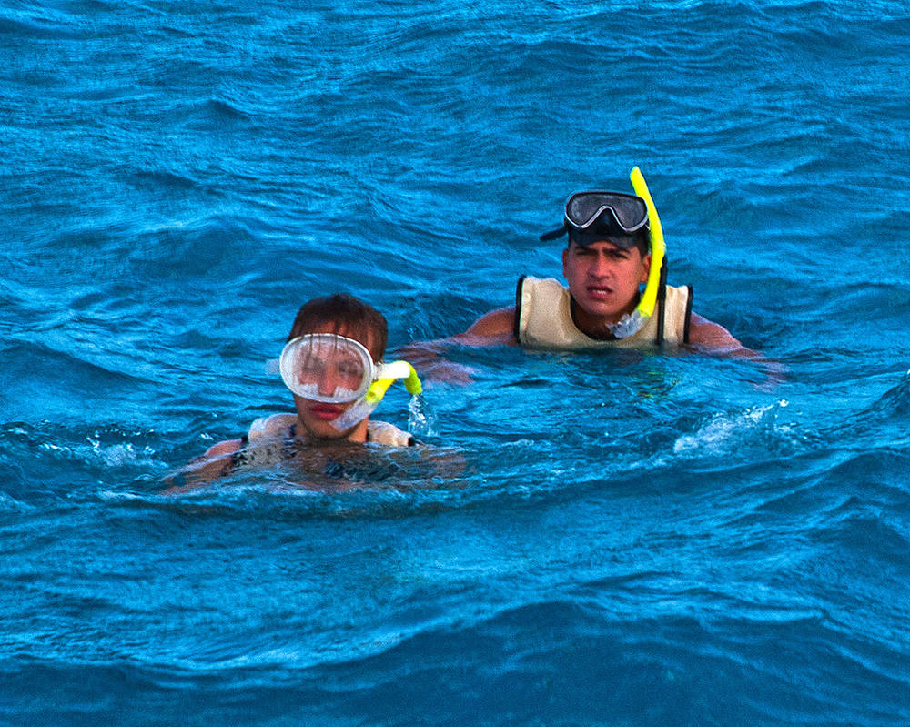 Two Belgians Snorkeling by quintmckown