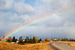 Rainbow over Wild Horse Plains, Montana by quintmckown