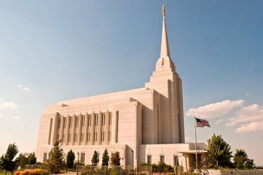 Mormon Temple, Rexburg Idaho USA by quintmckown