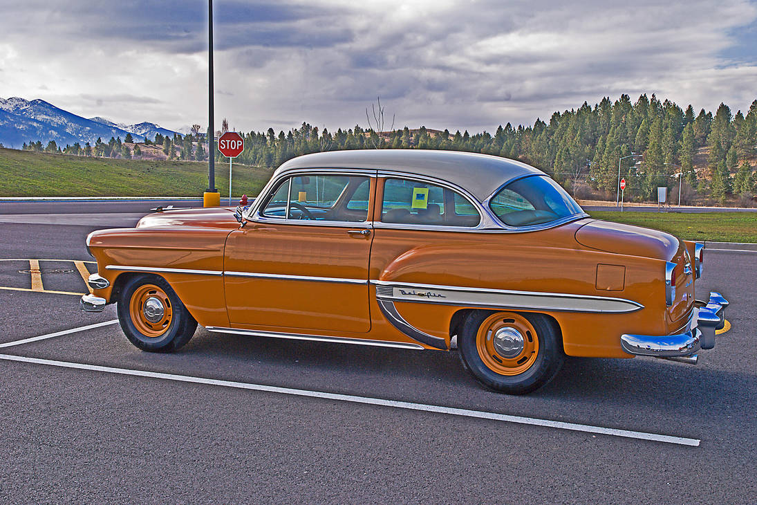 1954 Chevy Bel Air in Butterscotch by quintmckown