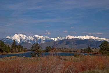 Flathead River/Mission Mountains by quintmckown