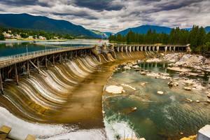 Upstream Dam at Thompson Falls by quintmckown