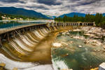 Upstream Dam at Thompson Falls by quintmckown