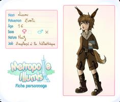 Fiche personnage Metropole Illumis : Liam by Linkdezelda