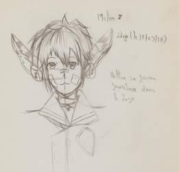 [PSO2] Melon Gijinka portrait- test - by Linkdezelda