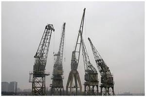 antwerp cranes 2 by damnengine