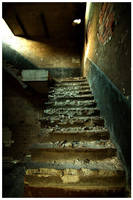 Stairs abandoned coal storage by damnengine
