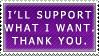 'I support what I want' by Feniiku