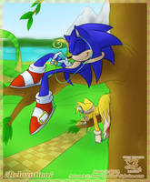 Sonic and Tails- Relaxation by Feniiku