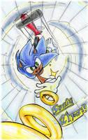 Sonic 21st- freefall! by Feniiku