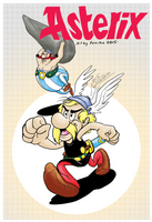 Asterix and Obelix by Feniiku