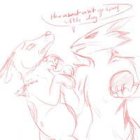 Courage + Katz Doodle by Feniiku