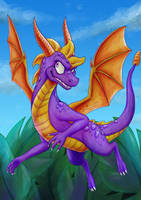 Spyro the Dragon .with speedpaint video. by Feniiku