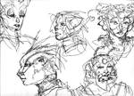 Head studies I by turbinedivinity