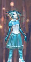 Blue Fashion Study by turbinedivinity
