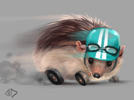 Daily Painting 005 Road Hedgehog by misha-dragonov