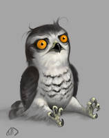 Daily Painting 012 Outraged Hawk by misha-dragonov