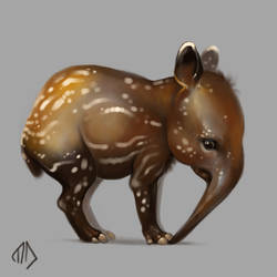 Daily Painting 015 Rubber Tapir by misha-dragonov