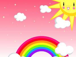 SweetRainbowSky -wallpaper- by Rainbow-Teardrop