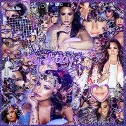~~.HappyBirthday Demi Lovato by ISirensDesigns