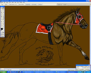 Racehorse WIP-02 by jennyshep5