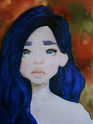 this nights a perfect shade of, dark blue by Linhaye