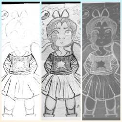 Little Girl, Big Dreams  by drawingbaby1001