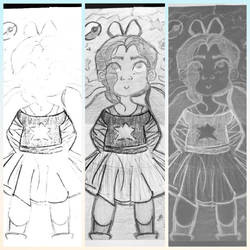 Little Girl, Big Dreams (repost) by drawingbaby1001