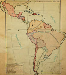 Map of Latin America in 1928 - 1936 by NikAverbax