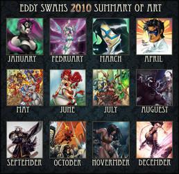 2010 Art Summary by Eddy-Swan-Colors