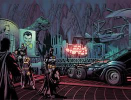Batman spread by Eddy-Swan-Colors