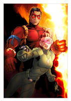 Hero and Sidechick by Eddy-Swan-Colors