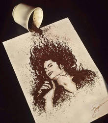 Michael Jackson ~ made of ground coffee by jullie-jullie
